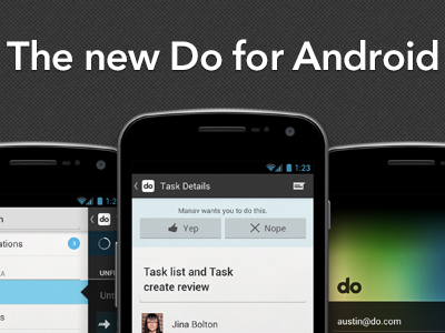 The new Do for Android do android roboto avenir grey mobile email marketing