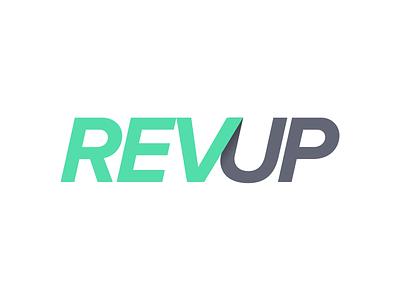 REVUP mark logo typography proxima nova product revenue