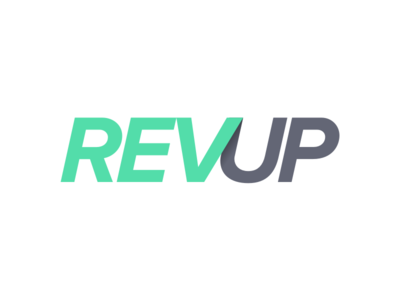 REVUP mark logo typography proxima nova product revenue