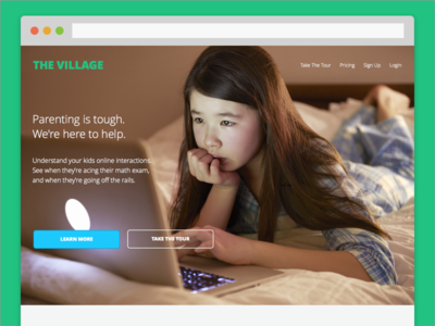 The Village parenting product ux ui open sans analytics dashboard marketing web social media