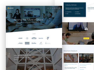 Skookum front-end development website agency marketing