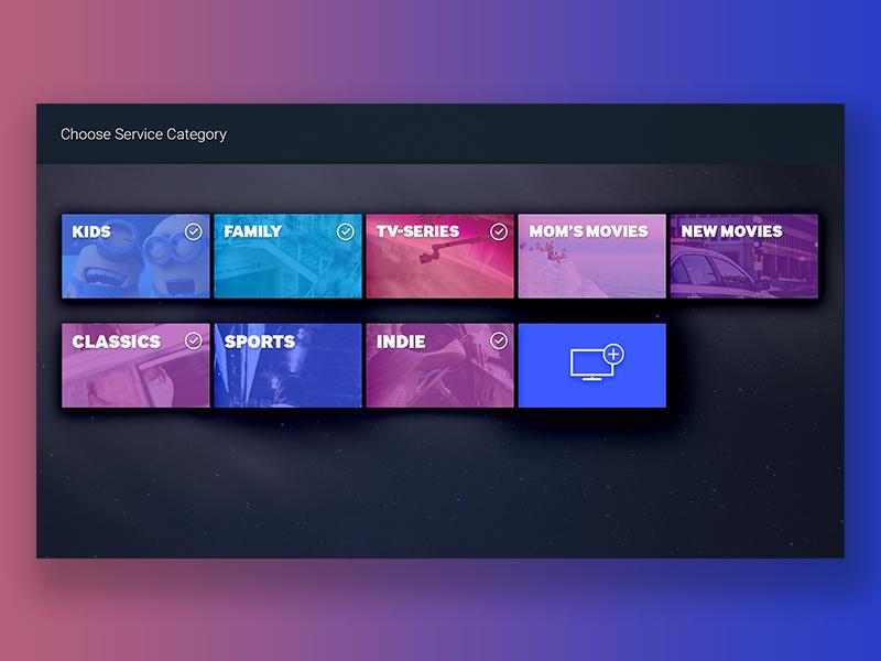 UI Concept for Samsung Smart TV