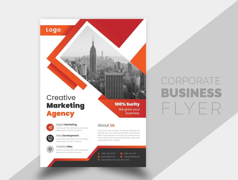 Creative and Simple Corporate Business Flyer Design Template elegant brochure cover brochure new unique creative design simple brand business flyer design best flyer templates design flyer template design creative corporate flyer design branding flyer design businessflyer corporate flyer corporate business
