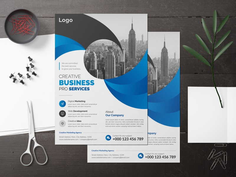 Creative and Simple Corporate Business Flyer Design Template best new abstract elegant simple flyer flying illustration corporate flyer corporate businessflyer business brochure cover business flyer design brochure branding brand best flyer templates design