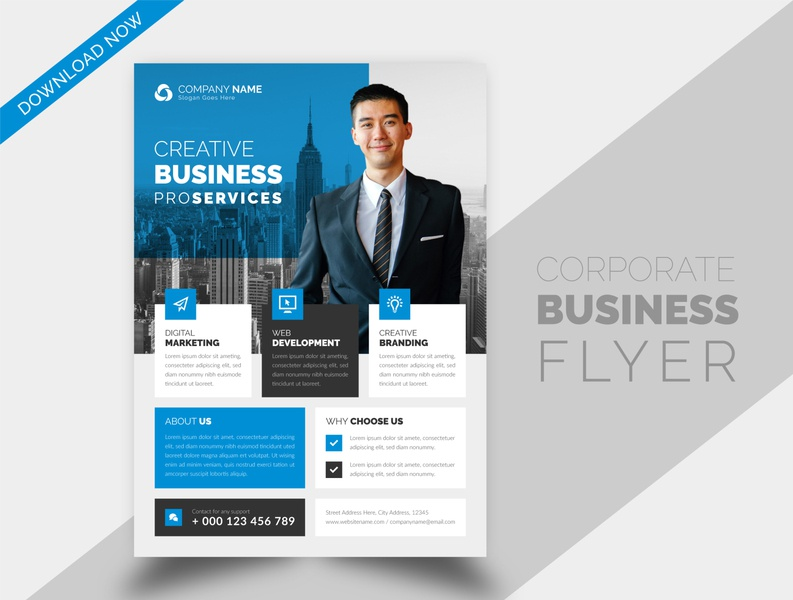 New corporate business flyer brochure design template unique best template unoque unoque creative new abstract elegant corporate businessflyer corporate flyer business flyer design business brochure cover brochure branding brand best flyer templates design