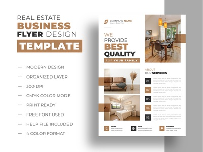 Real estate business flyer design template commercial agency advertising loan lease minimal negotiator template newspaper services multipurpose modern renovation house real estate advertisement mortgage realtor business flyer