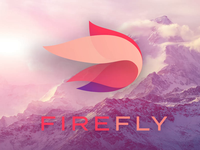 Firefly Brand Draft typography vector sales mountain animation firefly logo branding