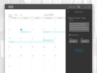 LMS – Calendar Add Event