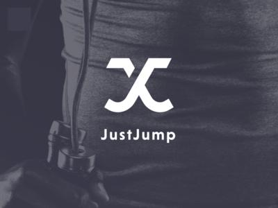 JustJump App Logo jump rope usajumprope world jump rope niveau grotesk purple justjump crossfit jumprope logo branding