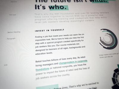 Cambeo Typography paragraph graphs charts neuzeit grotesk black green inspiration cambeo branding typography