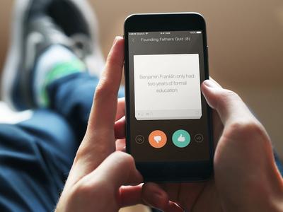 StudyGuide Quick Quiz test native mobile ios cards learn quiz app study ui ux