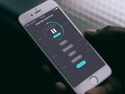 JustJump Workout Guide audio list jump rope jumprope counter timer tracker workout ui ux