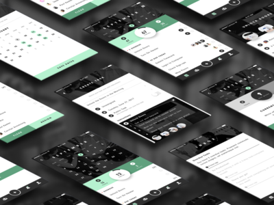 Cambeo Mobile Views users workflow assign list tasks widget calendar retail ui ux