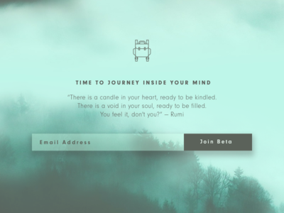 Conductive Beta Signup green mist mountain backpack beta form signup ui ux