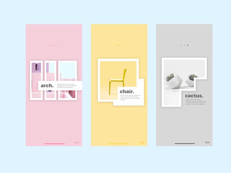 Forniture walkthrough ui branding flat website web illustrator ux ui minimal design app