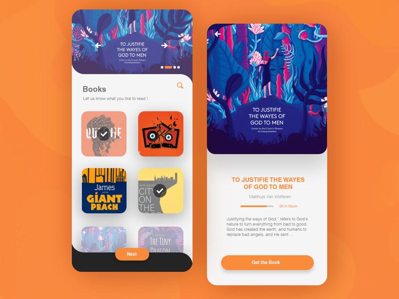 E-book app art vector minimal flat illustrations illustration app web e-commerce ui design e-books book