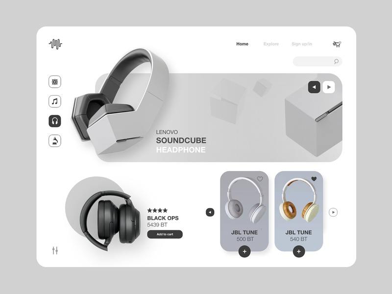 M&H website concept app ipad app ios uiux ui website sound concept minimal design headphones music