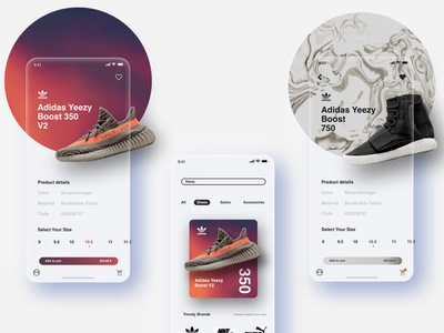 Sneakers app UI art icon illustrator minimal design illustration app ux branding ui