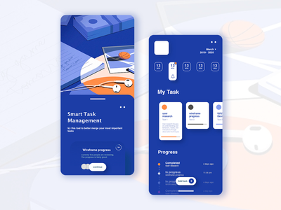 Daily task manager interface vector minimal app ux illustration illustrator ui design