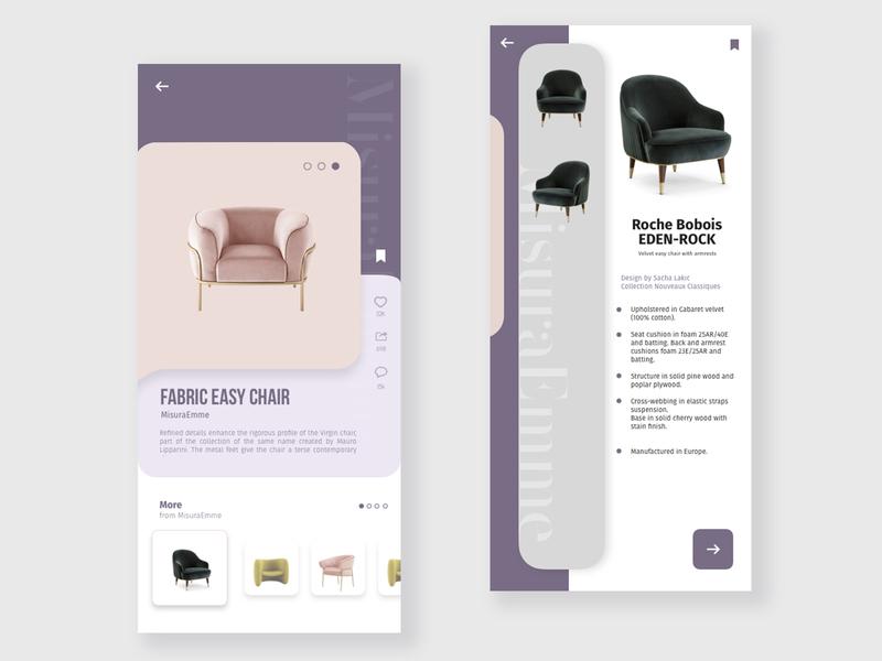 Minimal forniture UI design branding website web art vector ux ui minimal design app