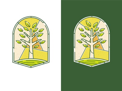 Stained Glass Logo stained glass logo branding illustration graphic design design