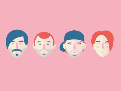 Portraits music simplistic faces design red hot chili peppers portraits icons