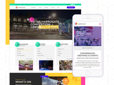Harrogate Convention Centre Website harrogate layout responsive mobile design web design ui