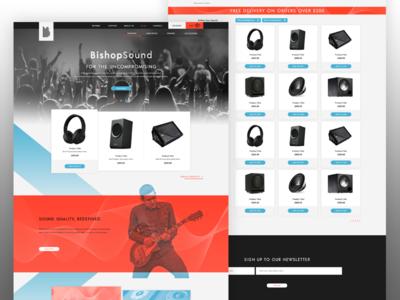 Bishop Sound illustration graphic design design landing page website ux ui