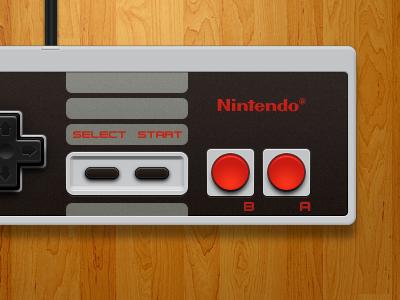 Nintendo (Nes) Controller nintendo nes controller illustration retro openemu ui design interface