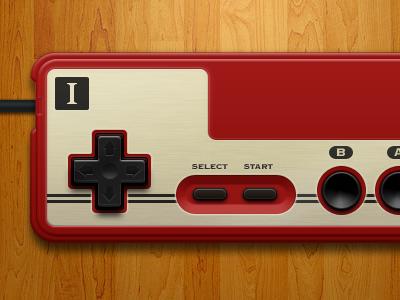 Famicom Controller ui design retro illustration nintendo openemu controller interface famicom