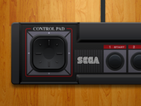 Sega Master System Controller sega sms master system controller illustration retro openemu games video games ui design interface