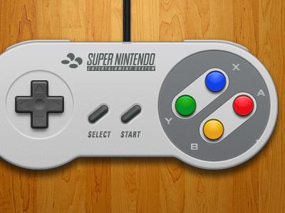 Super Nintendo Controller (EU/AUS) nintendo nes controller illustration retro openemu games video games ui design interface