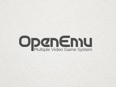 OpenEmu Text Logo Test openemu motter tektura retro 70s video games emulation logo