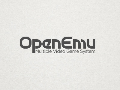 OpenEmu Text Logo Test openemu motter tektura retro 70s video games emulation logo