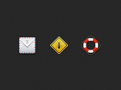 Archive.vg: Random Web Icons ant mail envelope archive bug sign road buoy preserver help