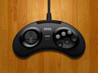 Genesis   megadrive 6 button controller %28full view%29