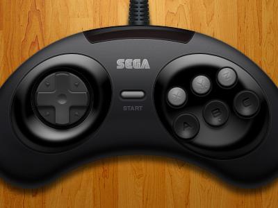 Genesis / Megadrive (6 Button) Controller genesis megadrive controller retro emulation openemu sega video games