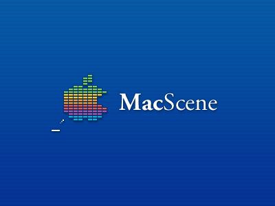 MacScene Logo mac macintosh games discussion forum logo breakout website