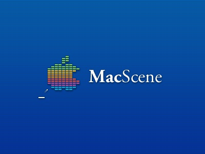 MacScene Logo mac macintosh games discussion forum logo breakout website