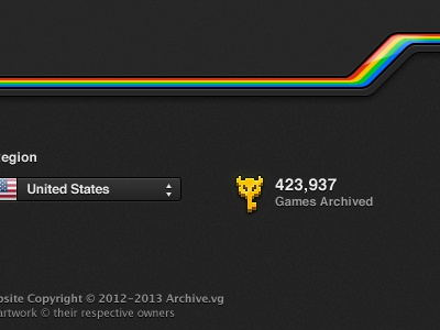 Footer: Games Archived master key key zelda voxel icon footer archive games retro rainbow stripe
