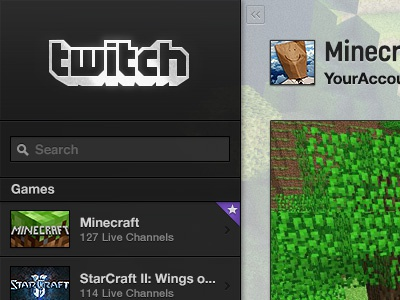 Twitch Channel Page Beta twitch games video games broadcasting video viewing streaming media