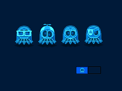 Anatomy Of A Ghost ghosts x-ray nerds blinky inky clyde pinky pacman pixel art pixel
