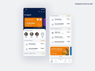Mobile Banking - Finance bfsi finance mobile banking banking app investments banking bank landingpage uxdesign appdesign uidesign ux ui
