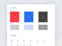 Color palette & icons