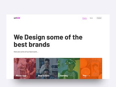 Projects Page brands portfolio webdesign agency landingpage userinterface uidesign ux ui