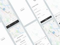 Carpool App Concept (wireframes)