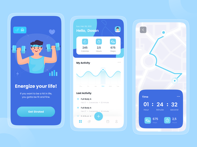 Fitness & Workout App uiux app ux ui fit excercise gym app gym maps running app running mobile app fitness app workouts workout tracker workout app workout fitness