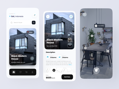 Home Rent App property mobile minimal clean ui real estate app realestate uiux ux ui app home rent app rent rent app real estate monile app mobile app design house rent app house home rent home