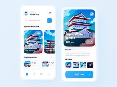 Travel App app design mobile app travelling tour ticket booking app ticket app ui app travel mobile app minimalist tourism trip destination app travel vacation tourism app