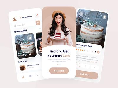 Cake App shoping app cake shop mobile minimalist uiux clean ui mobile ui ui mobile app foodies app app birthday cake cookies app birthday app foodies food app cookies cookie app cake cake app